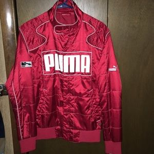 EXTREMELY RARE Red Quilted Puma Racer Jacket